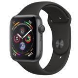купить Apple Watch Series 4 GPS 44mm Space Gray Aluminum Case with Black Sport Band MU6D2 US